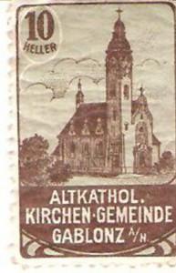 Známka kostel Povýšení sv. Kříže Jablonec 1